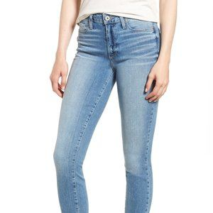 """Paige Hoxton Distressed Ankle Blue Jeans 9"""" Rise"""